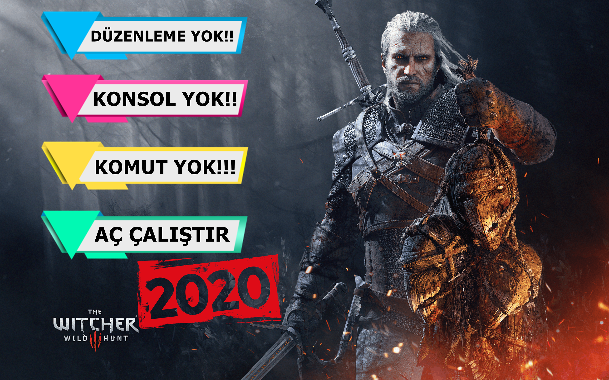 The Witcher 3 v1.02 Plus 16 Trainer Full İndir